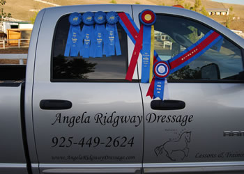Woodside Dressage Show Ribbons